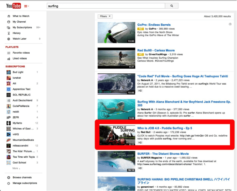 redbull surf youtube search
