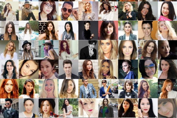 social media influencers collage