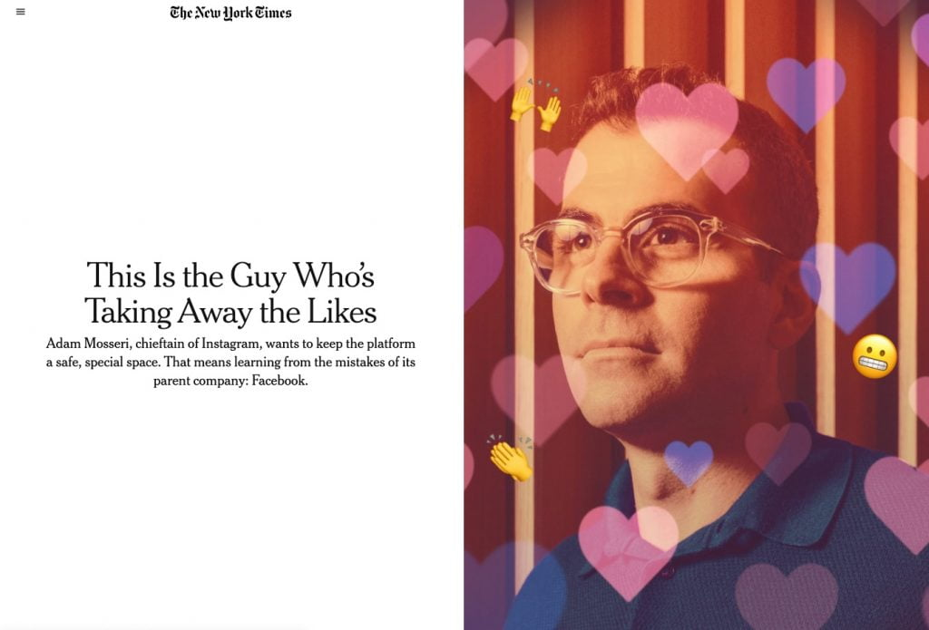 Adam Mosseri NYT