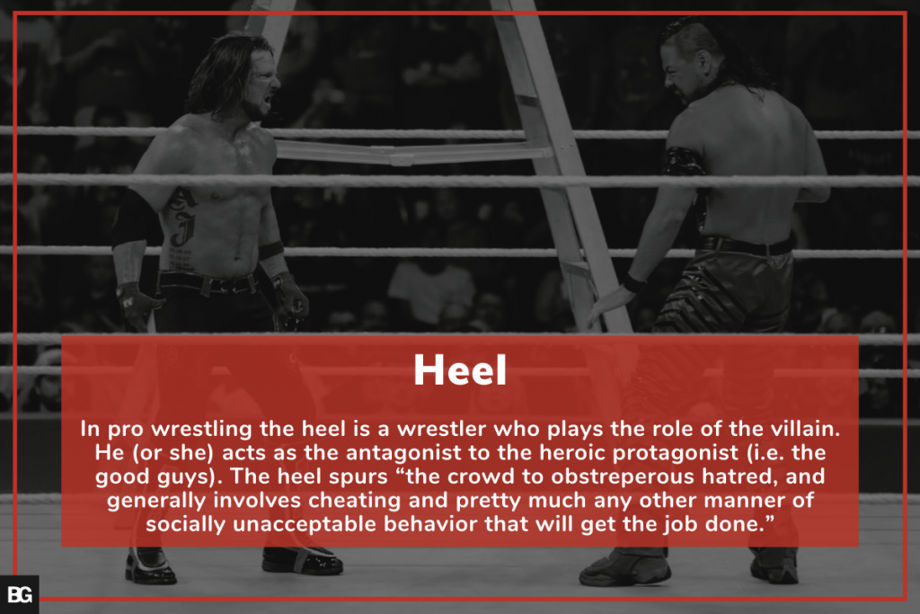 """The role of """"Heel"""" in WWE and in audience development"""