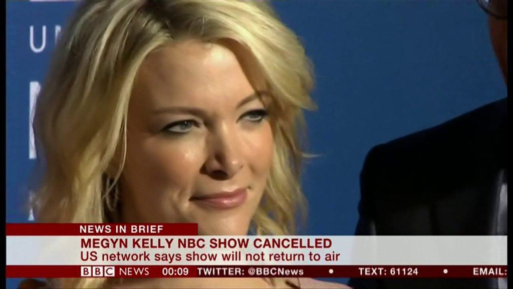 In 2018 Today Show anchor Megan Kelly was fired from NBC's Today show.