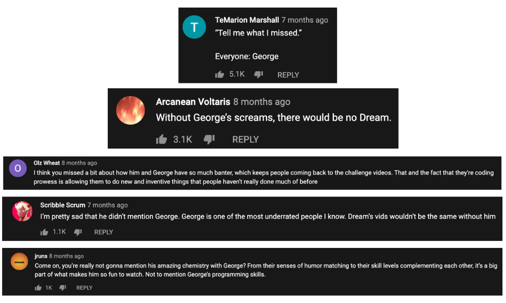 comments on the video streaming of Dream